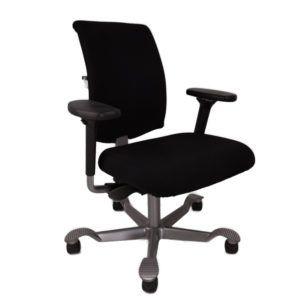 HAG Bureaustoel – Tweedehands – Zwart Nieuw Gestoffeerd – H05 5300