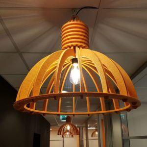 Circulair Akoestische Industrielamp