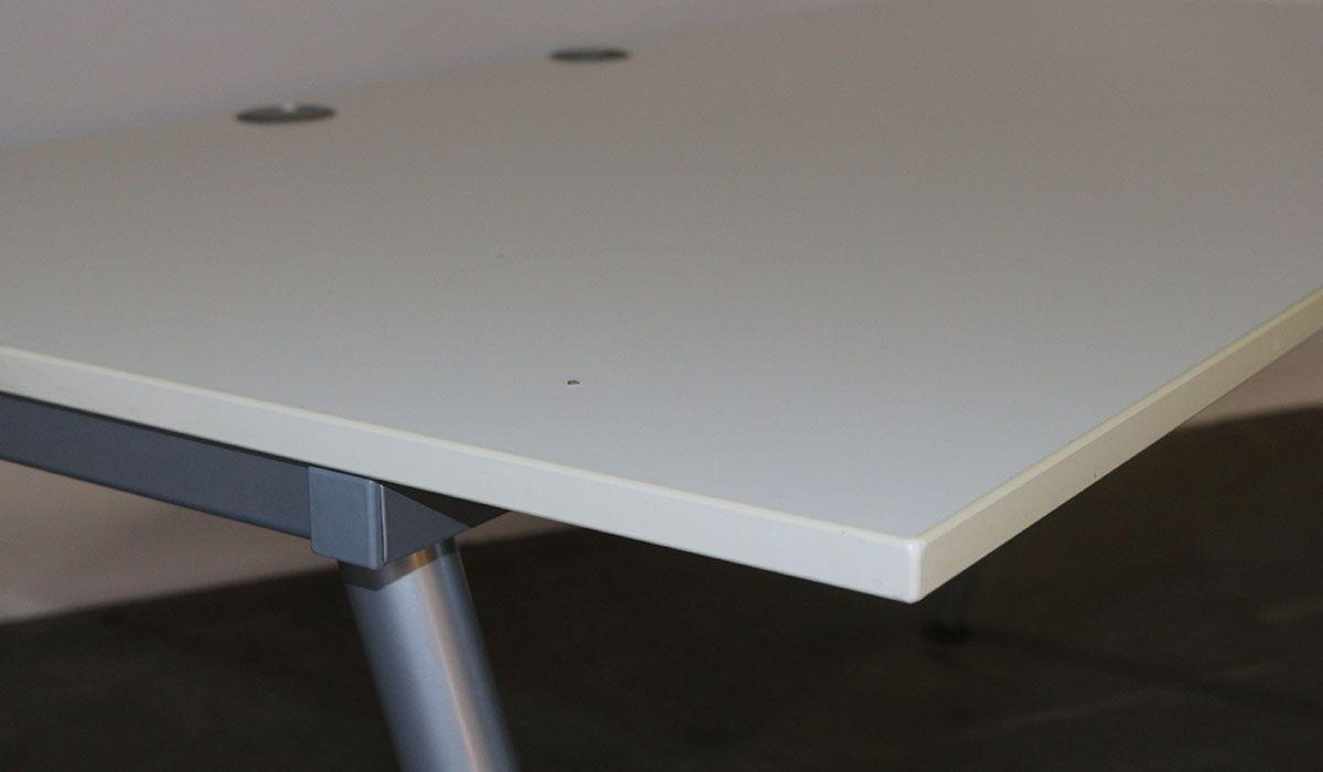 Ongebruikt Ikea - tweedehands bureau - instelbaar - 160 x 80 cm - grijs - wit UL-56