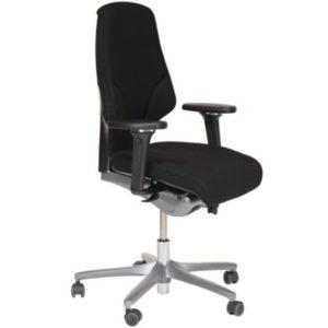 Giroflex Bureaustoel – Tweedehands – Zwart Nieuw Gestoffeerd – 64-8778