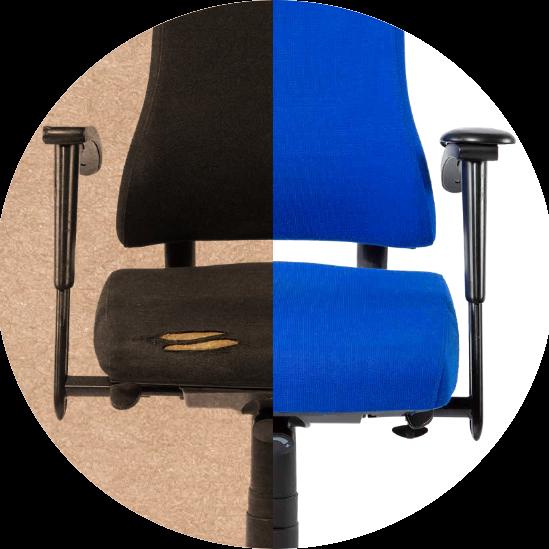 Oude-herstelde-stoel