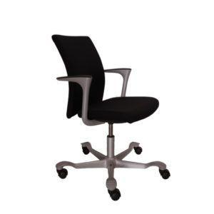HAG Bureaustoel – Tweedehands – Zwart Nieuw Gestoffeerd – H04 7742