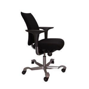 HAG Bureaustoel – Tweedehands – Zwart Nieuw Gestoffeerd – H05 5400