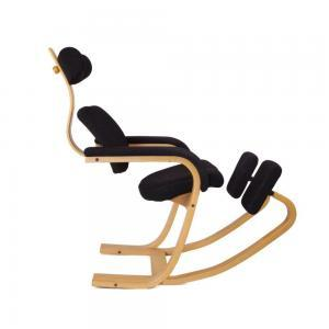 Stokke – Balansstoel – Zwart Gestoffeerd