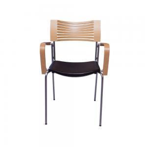 Fritz Hansen Runner Chair – Designer Stoel – Secondlife – Hout Met Zitkussen