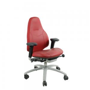 RH Mereo 220 Bureaustoel – Tweedehands – Rood Gereinigde Kussens
