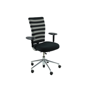 Vitra T-Chair – Zwart-grijs Gestreept